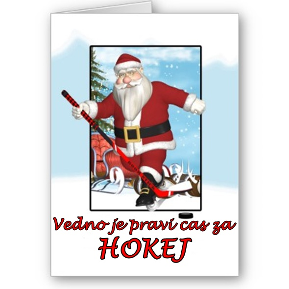 Hockey Santa-Christmas-card